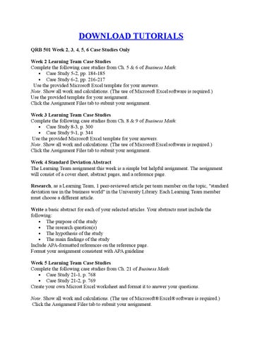 qrb 501 week 6 capital budgeting case study excel