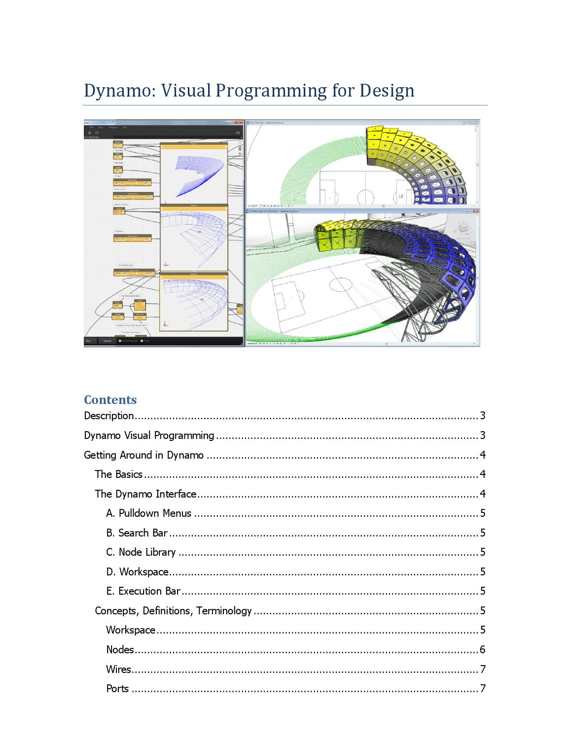 Dynamo visual programming for design by Дмитрий Дронов - issuu