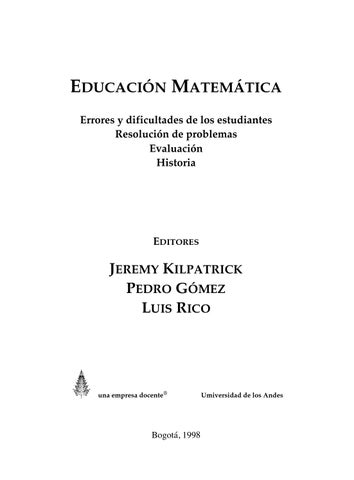 Educación Matemática by Harold Amaury Thomas Velandia - issuu