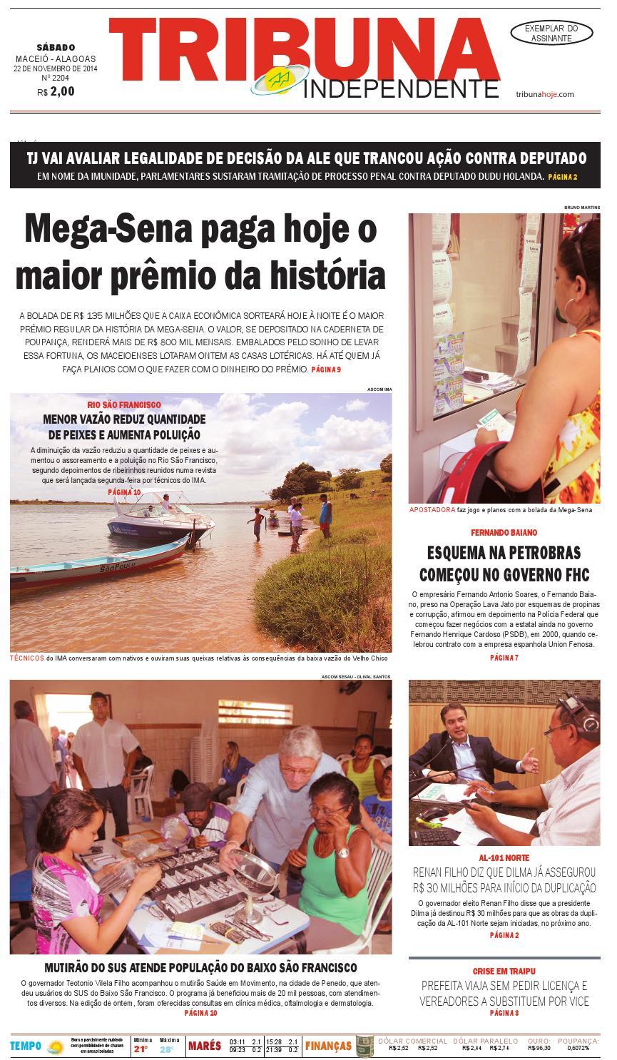 Edição número 2204 - 22 de novembro de 2014 by Tribuna Hoje - issuu cdad8703e9a02