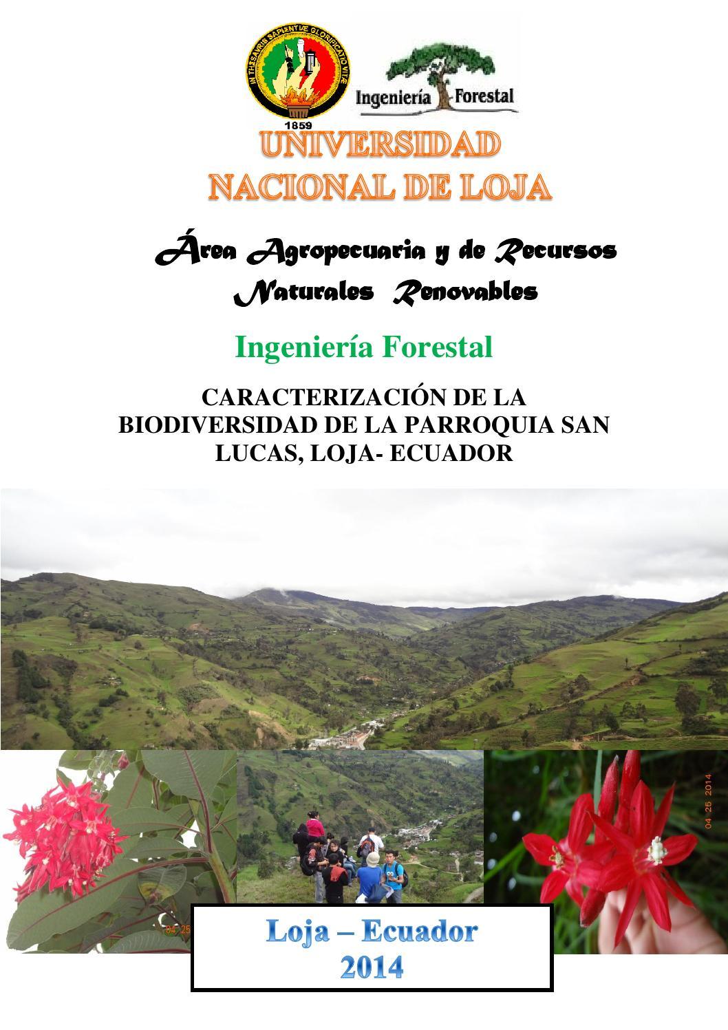 caracterizaci243n de la biodiversidad de la parroquia san
