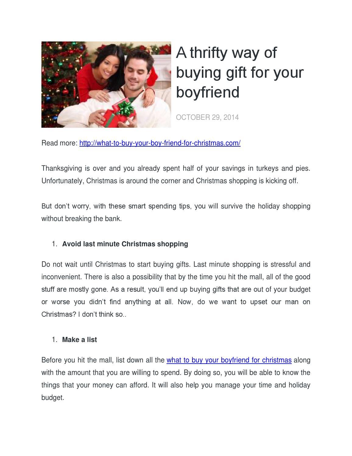 a thrifty way of buying gift for your boyfriend by harold f calderon issuu - Stuff To Get Your Boyfriend For Christmas