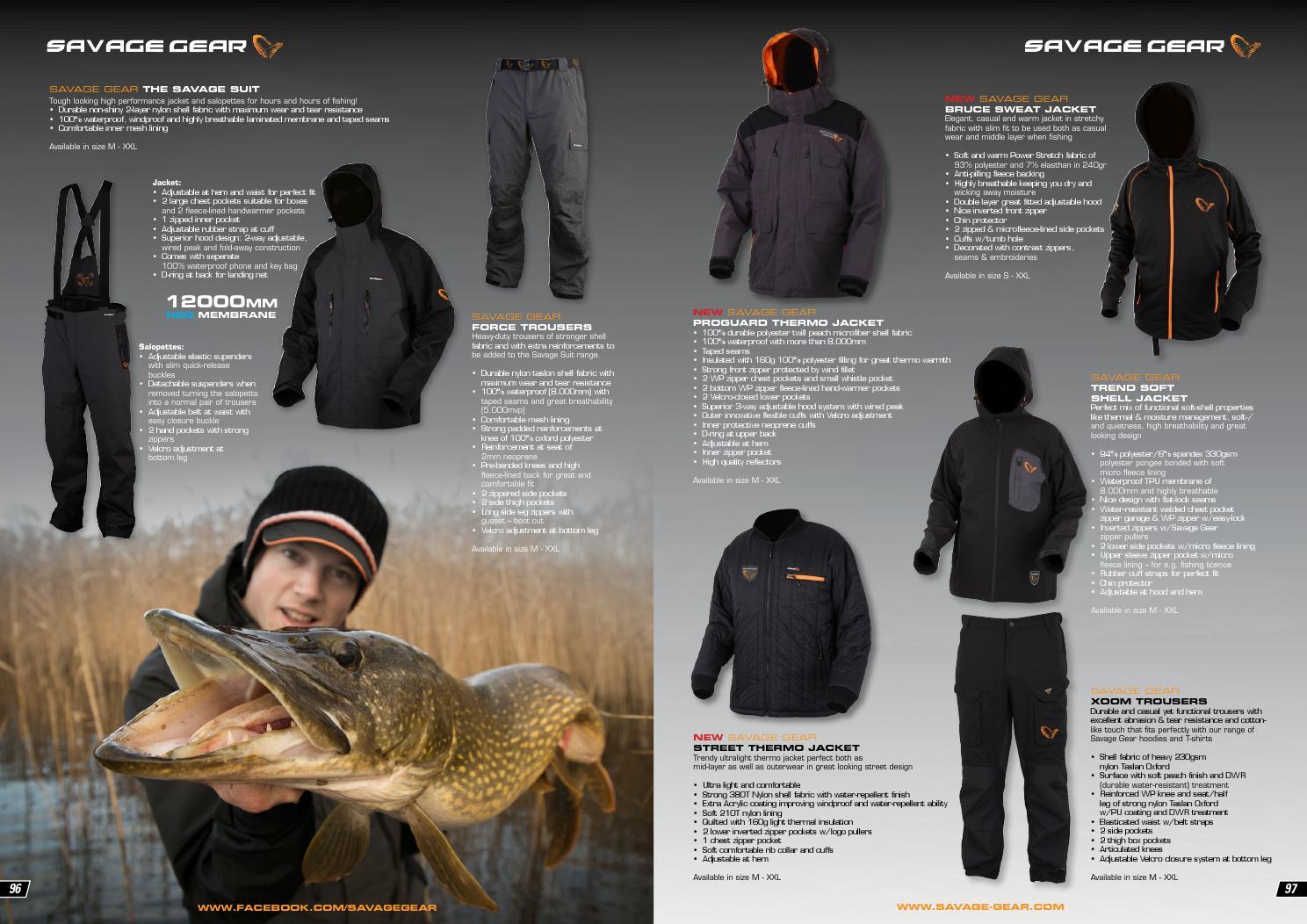 Savage Gear Jacket Proguard Thermo M-XXL Durable Waterproof