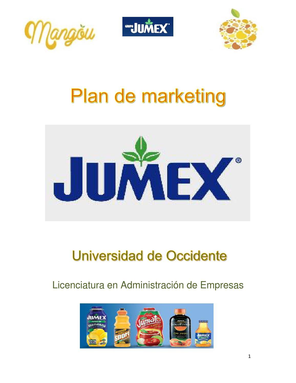 plan de marketing mangou para jumex by FRANKLINOMAR - issuu