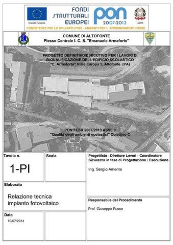 01 Pi Relazione Tecnica Impianto Fotovoltaico By Emanuele Armaforte