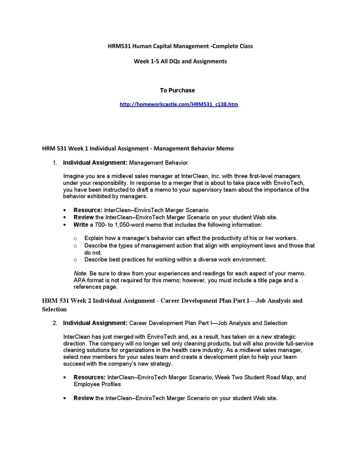 job analysis and selection inter clean View homework help - hrm5312_career_dev_part_1 from hrm 531 101 at university of phoenix interclean career development plan part i job analysis and selection hrm 531 interclean career development.