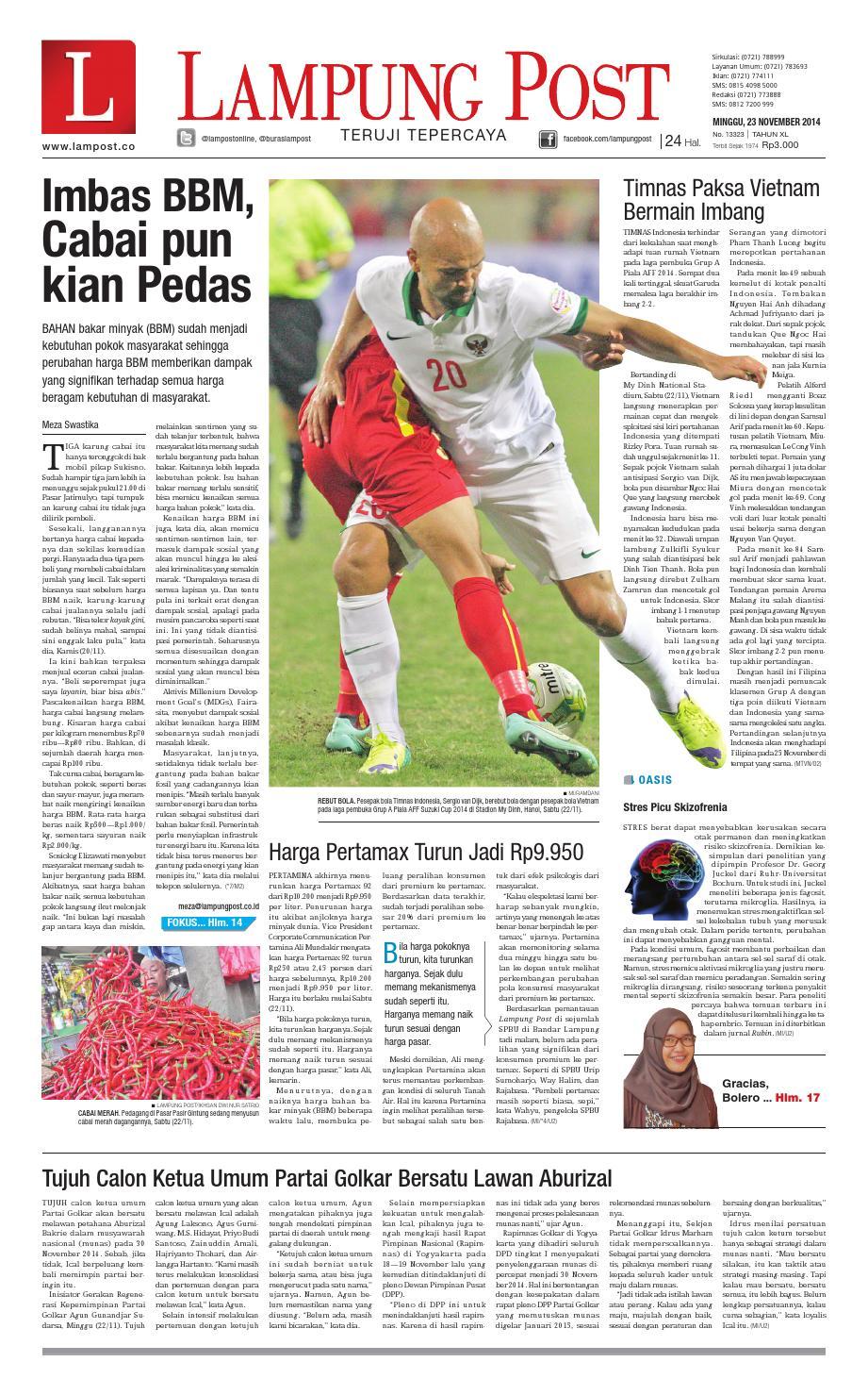 Lampung Post Minggu 23 November 2014 By Issuu Produk Ukm Bumn Bahan Songket Sulam Katun Merah