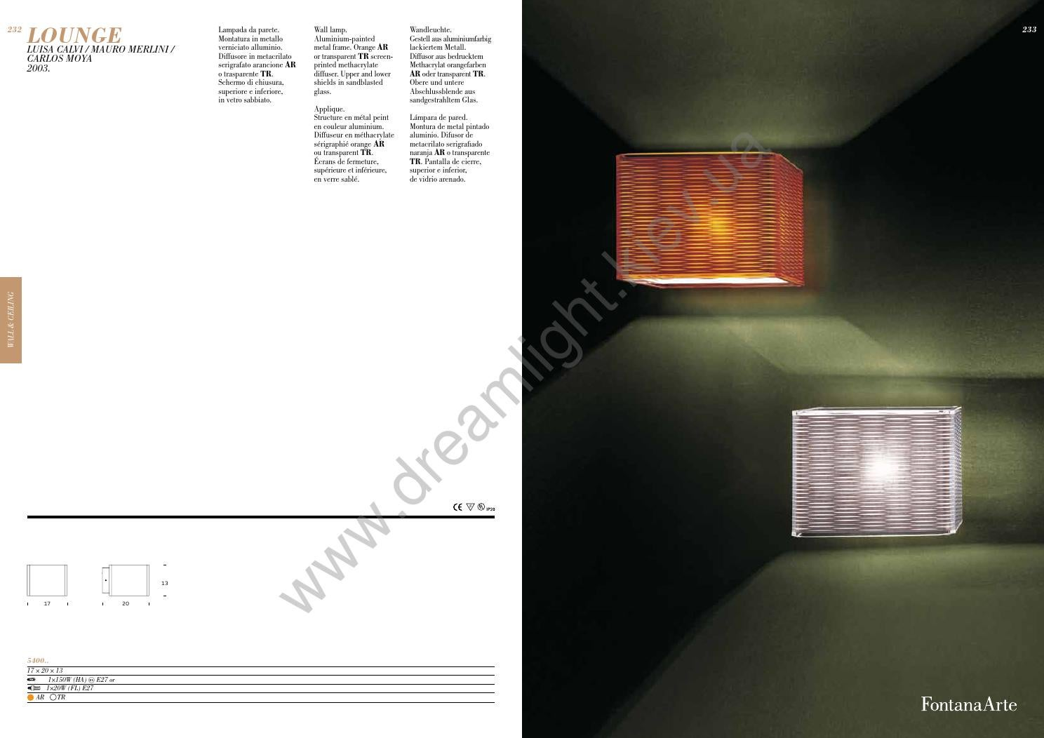 Fontana arte catalogo master 2012 by www.dreamlight.kiev.ua issuu