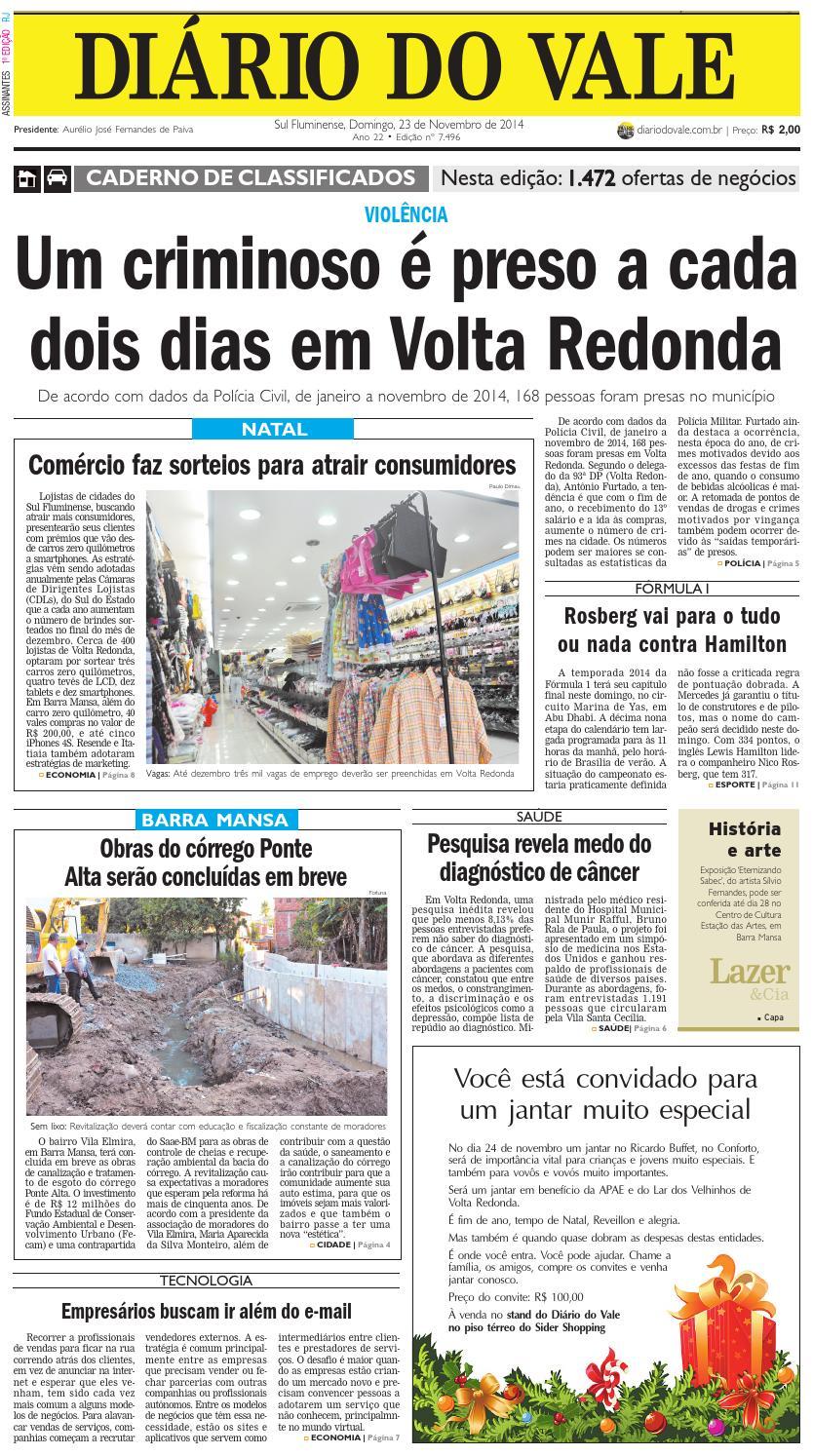 7496 diario domingo 23 11 2014 by Diário do Vale - issuu 6c6266a5796