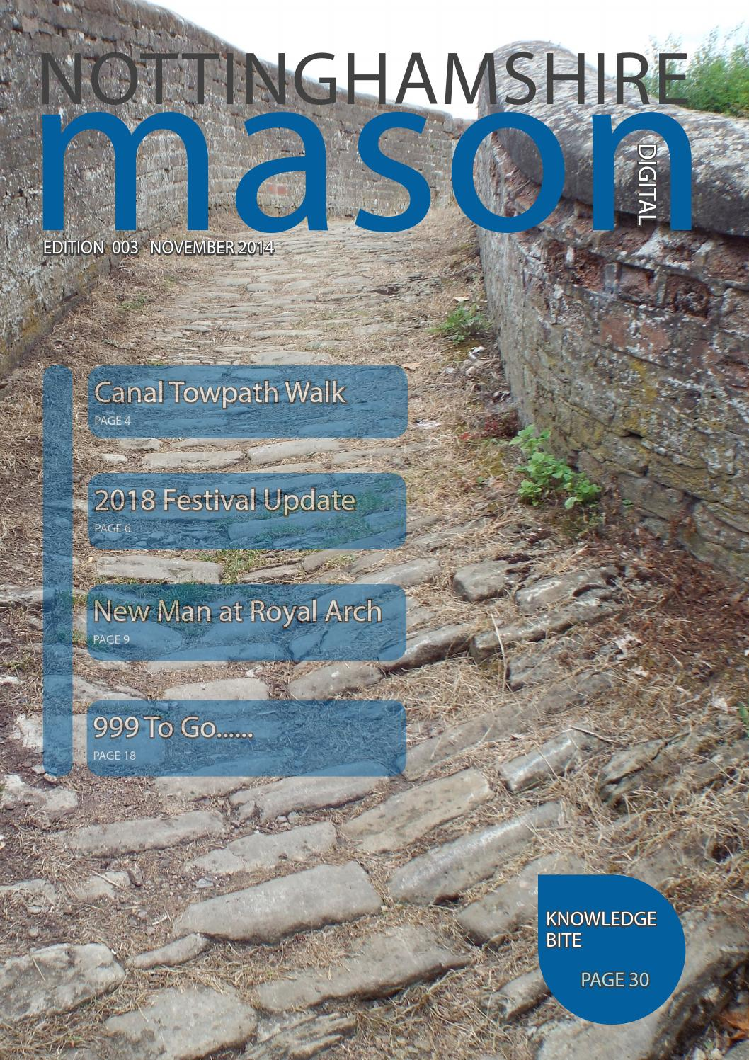 Nottinghamshire Mason Edition 3 by Kevin Rolling - issuu