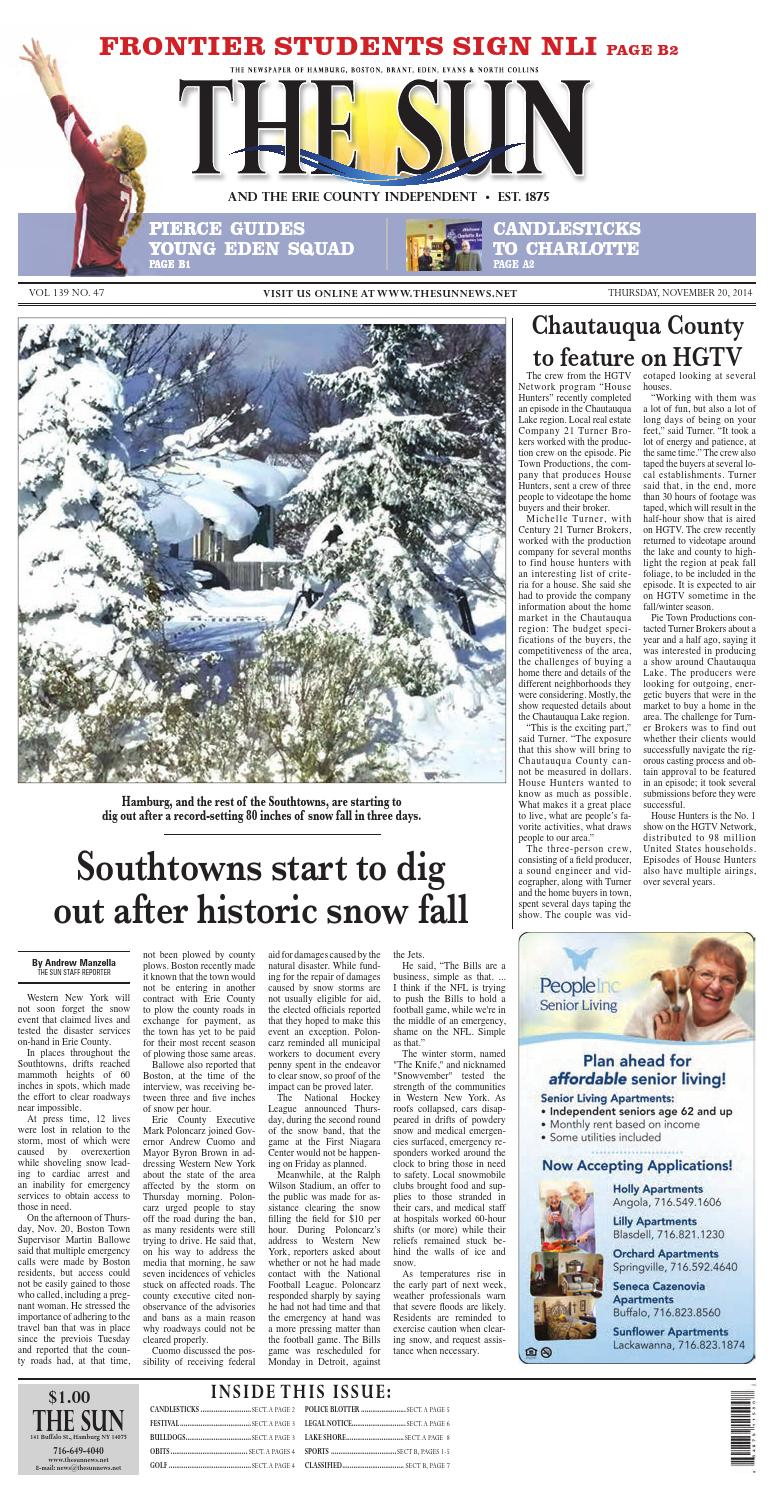 Hamburgsun A 11 23 14 By Community Papers Of WNY