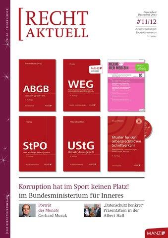 Rechtaktuell 11 122014 By Manzsche Verlags U