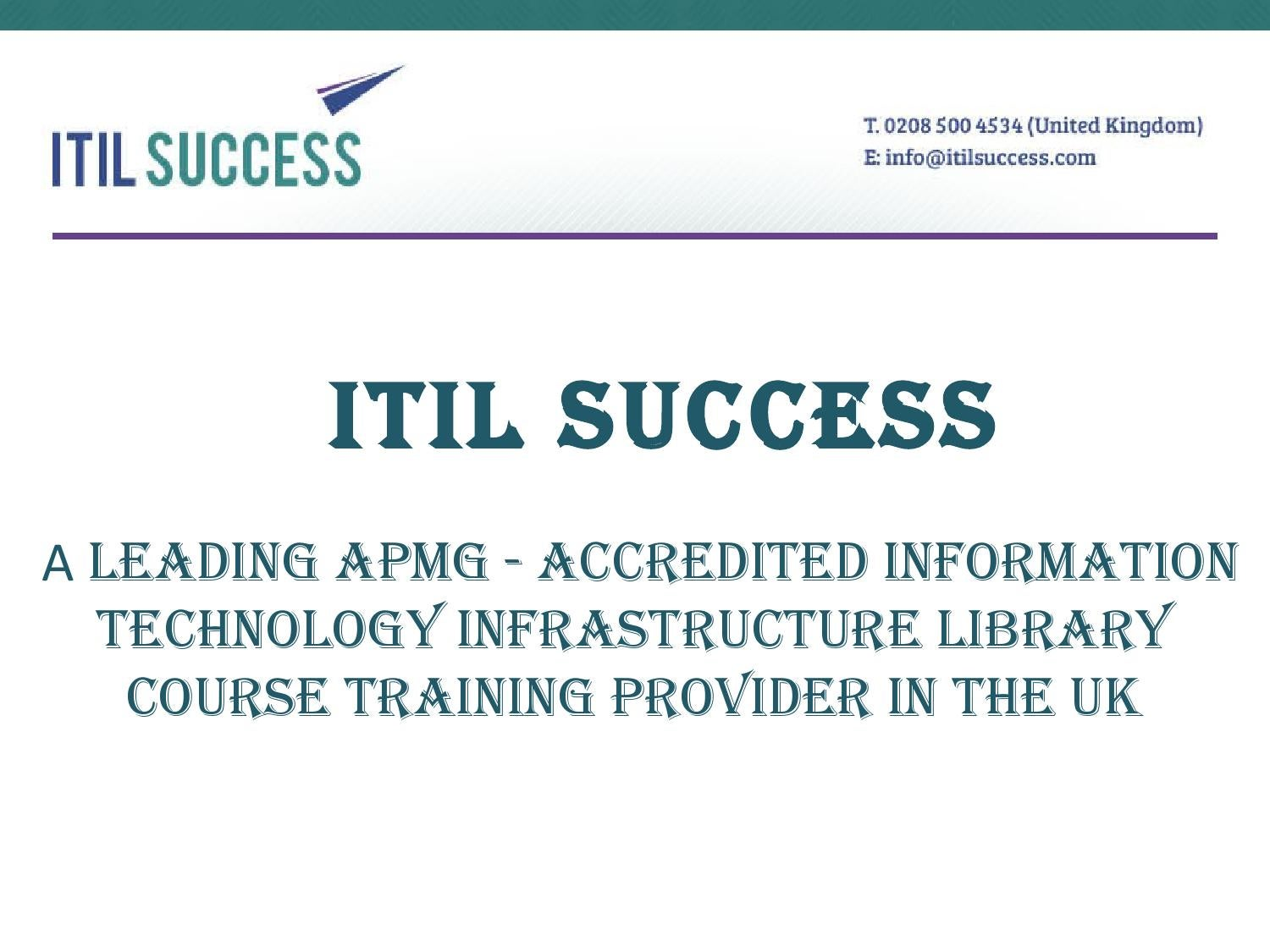 Itil certification go level by level by itil success issuu 1betcityfo Images
