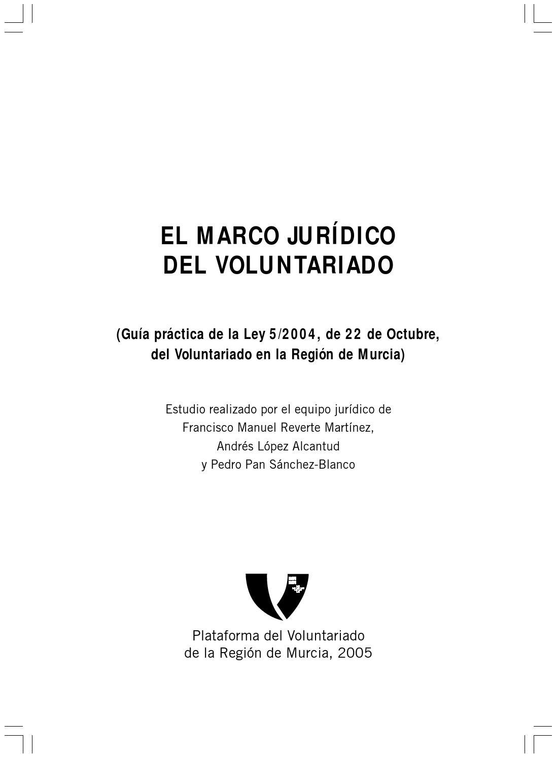 El marco jurídico del voluntariado by Integra y Participa - issuu