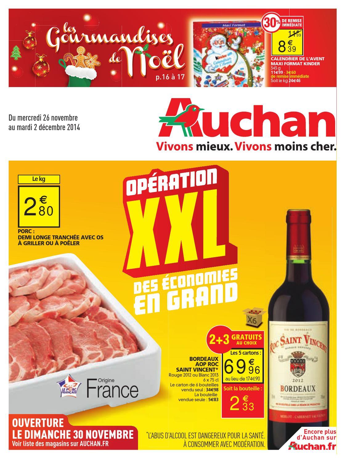 Calendrier De Lavent Kinder 343 G.Auchan Catalogue 26novembre 2decembre2014 By Promocatalogues