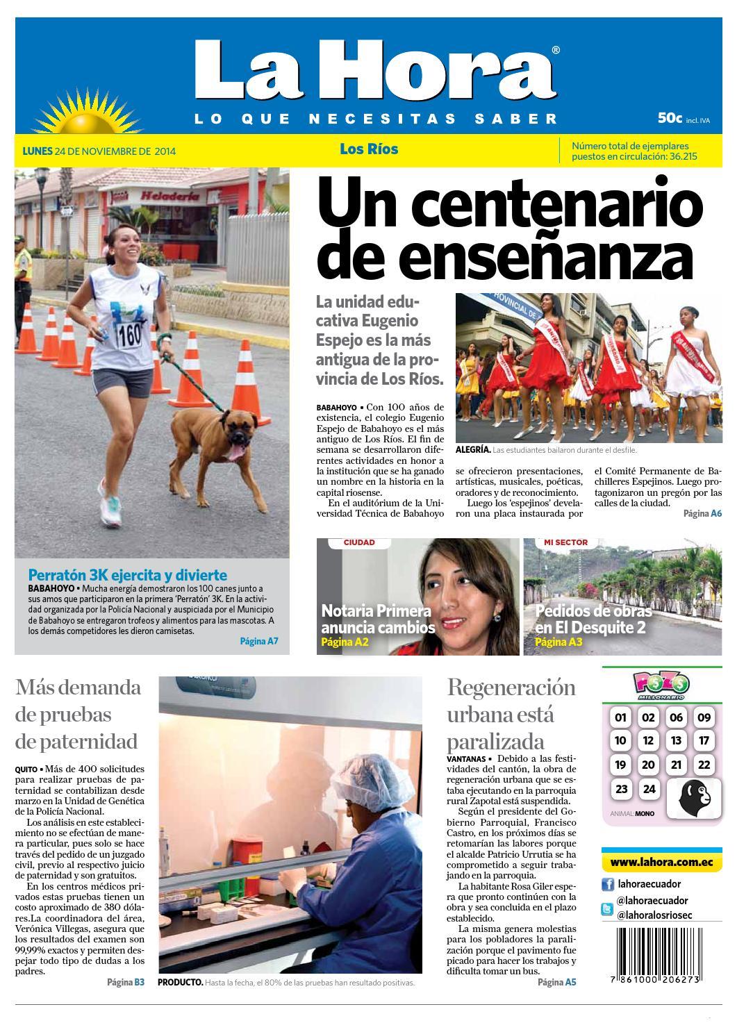 Los Ríos 24 de noviembre 2014 by Diario La Hora Ecuador - issuu
