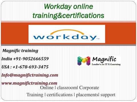 Workday online training magnific