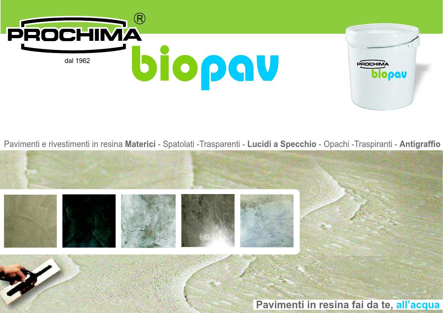 Biopav pavimenti in resina catalogo 2018 by prochima issuu for Pavimenti in resina fai da te