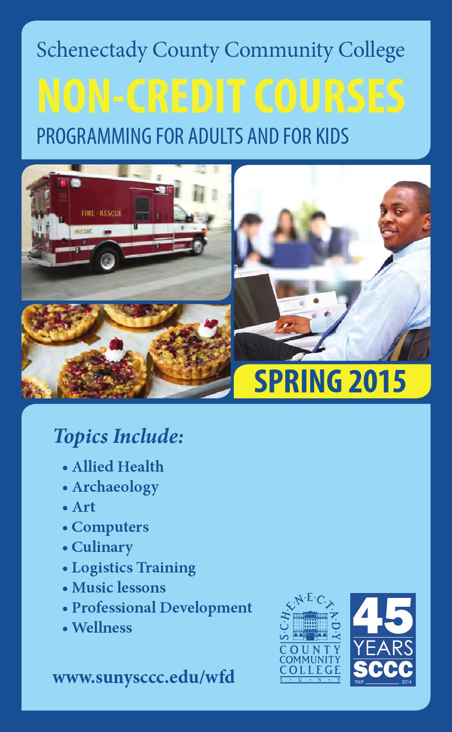 Sp2015 Non Credit Course Guide By Suny Schenectady County Community