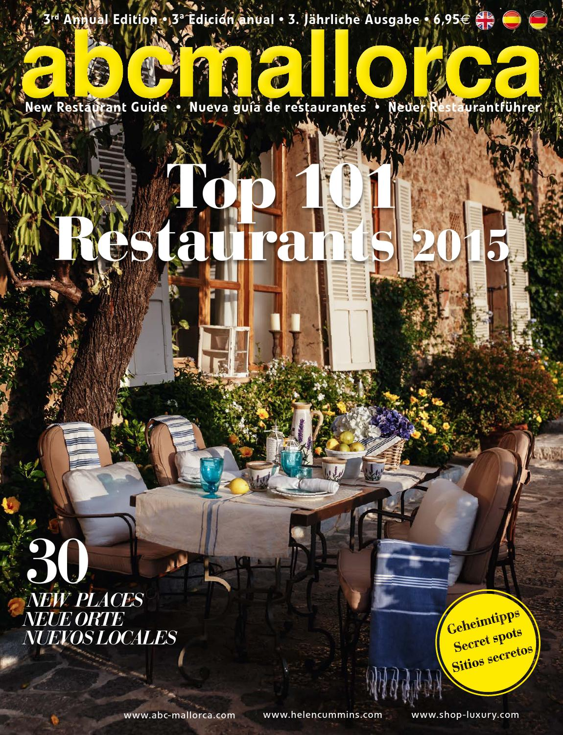 80th Abcmallorca 101 Top Restaurants 2015 By Abc Knowledge Company  # Muebles Wendy Manta