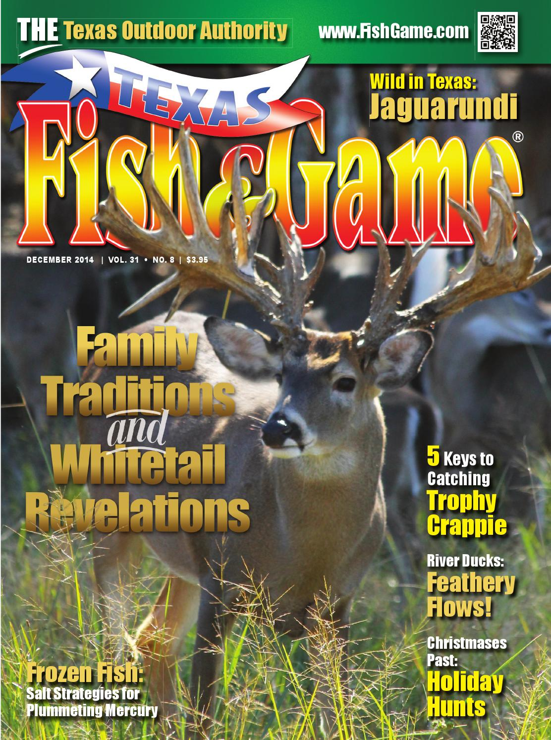 Texas fish game december 2014 by texas fishing and for Texas fish and game