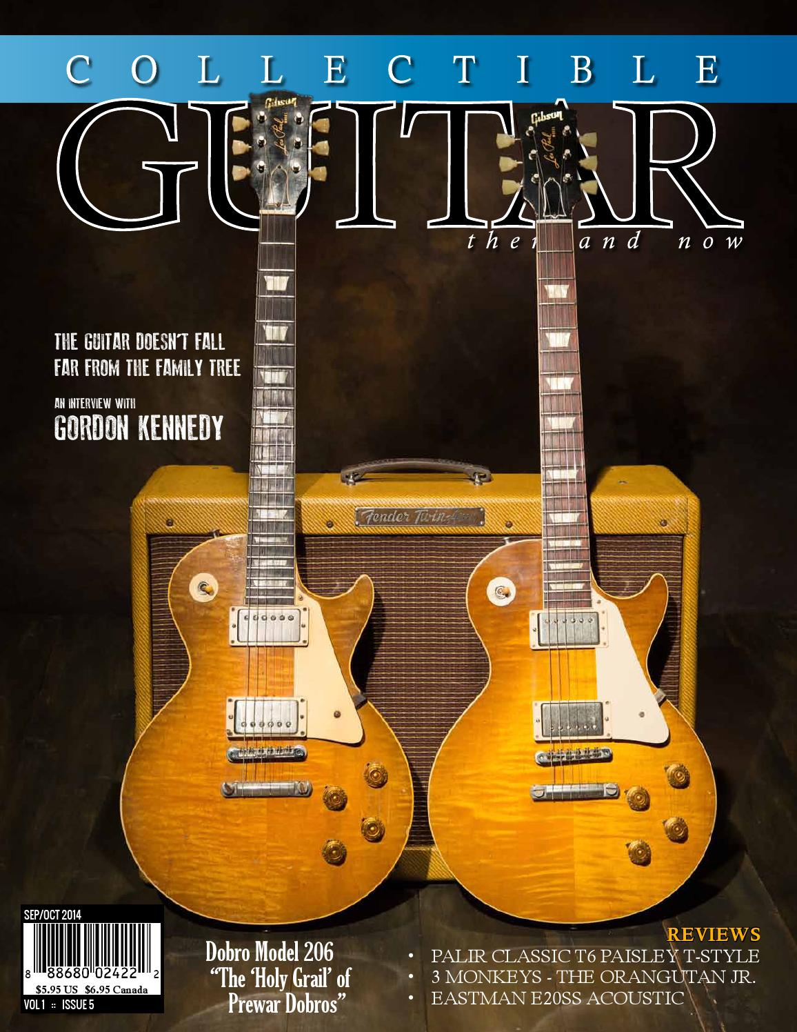 Collectible Guitar Then And Now Sep Oct 2014 By Epiphone Les Paul Custom Here Is An Example Of Modern 50 S Wiring Magazine Issuu