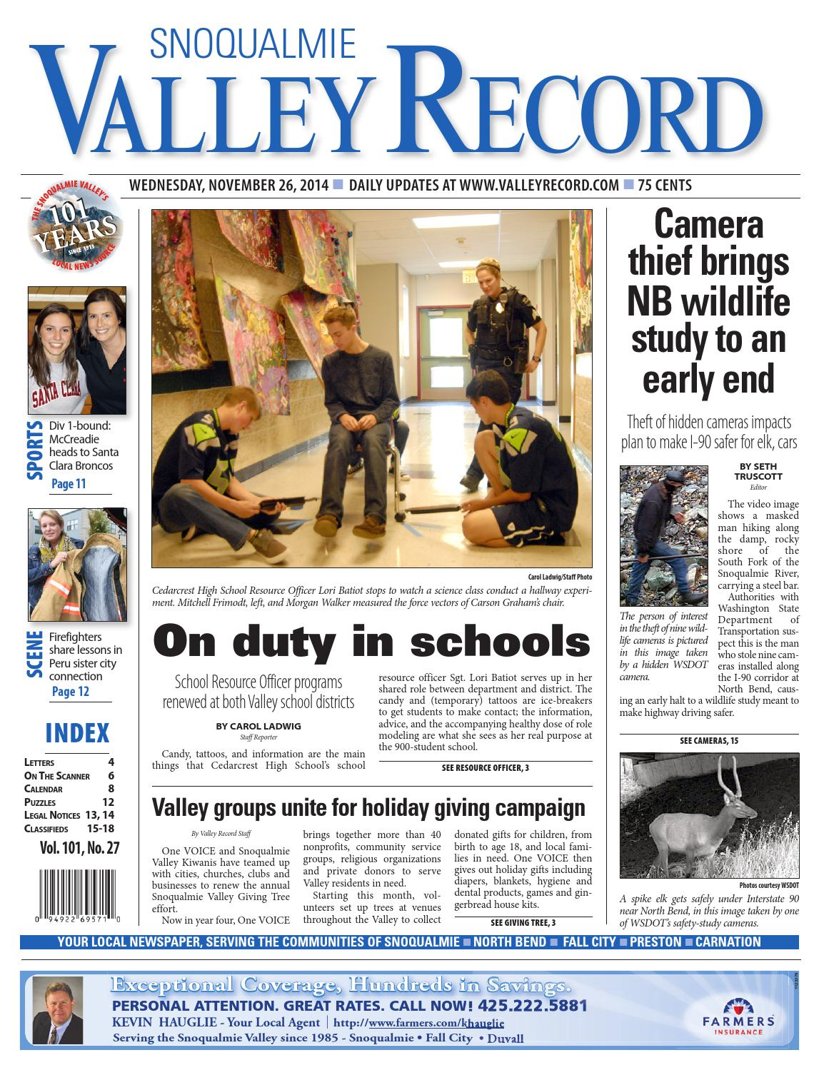 Snoqualmie Valley Record, November 26, 2014 by Sound