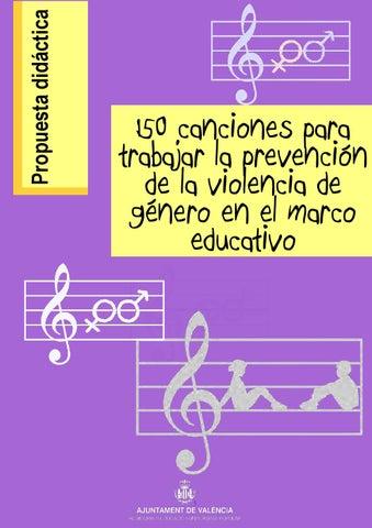 7b296d6ee 150 canciones para trabajar la prevención de la violencia de género ...
