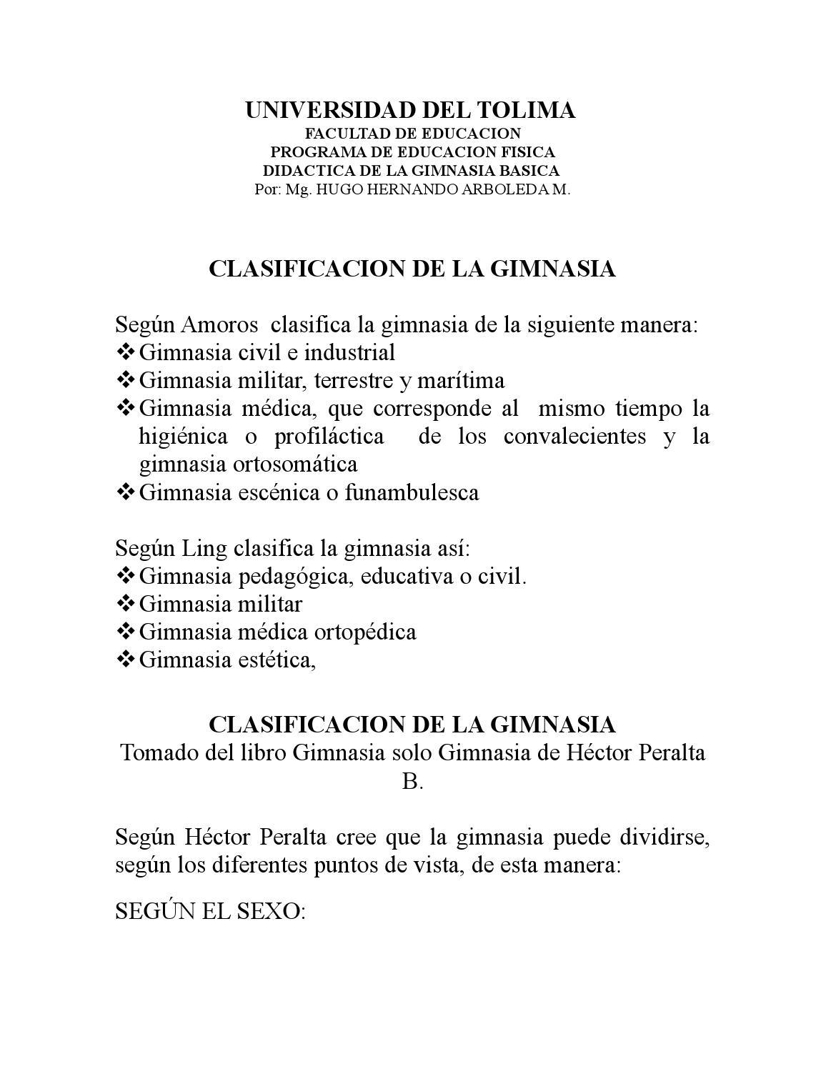 Clasificacion de la gimnasia 1 1 by ozkr conde issuu for Gimnasia concepto