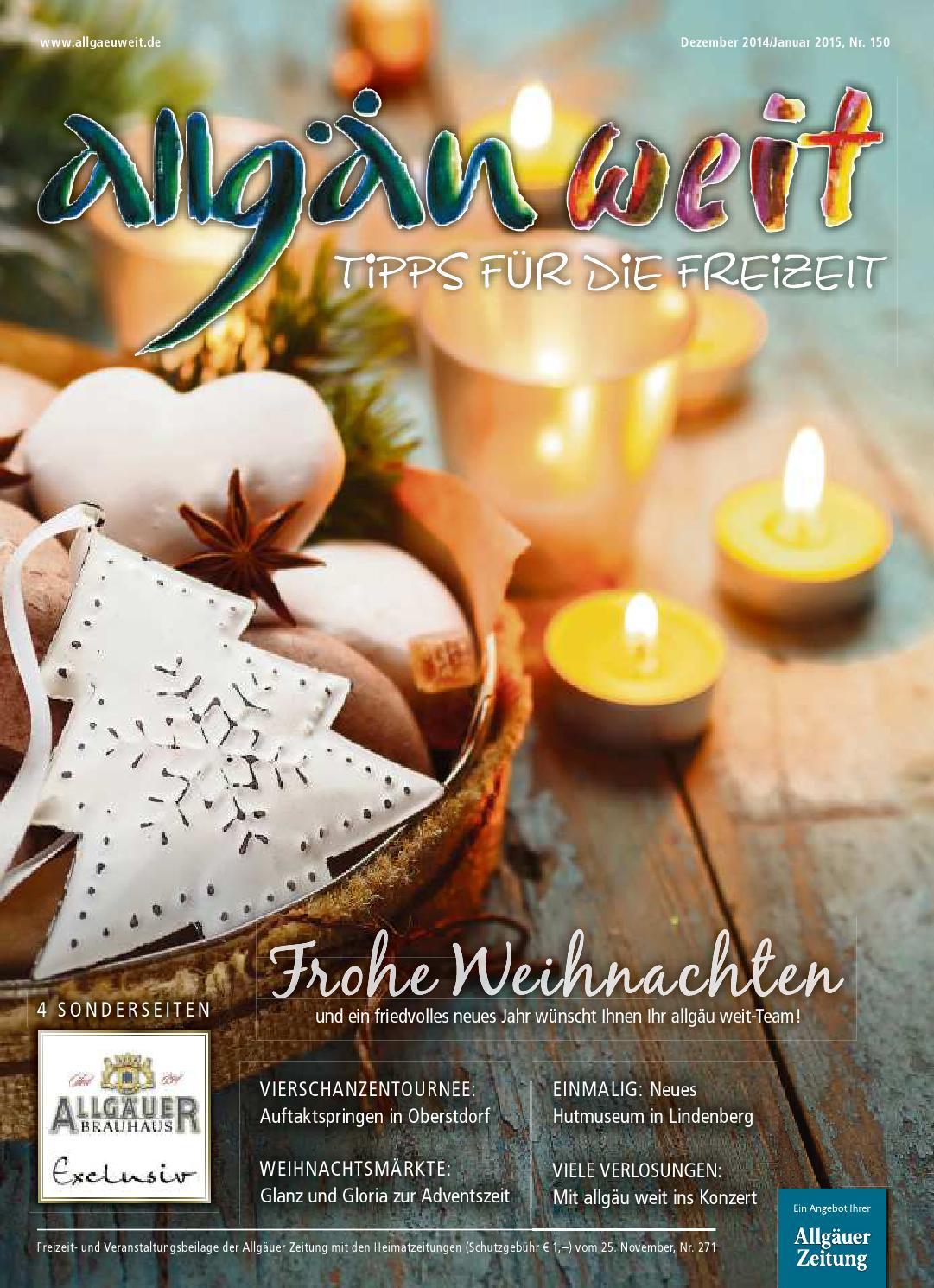 allgäu weit - Dezember 2014 vom Dienstag, 25. November by rta.design ...