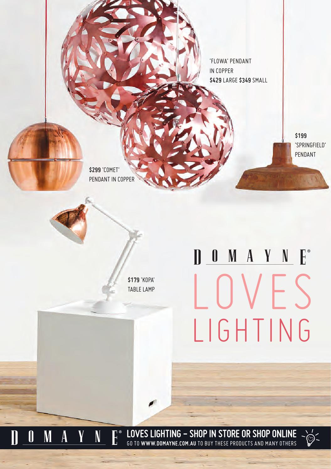 Domayne Loves Lighting By Issuu