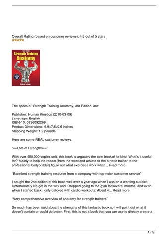 Strength Training Anatomy, 3rd Edition Review by Nick Scott - issuu