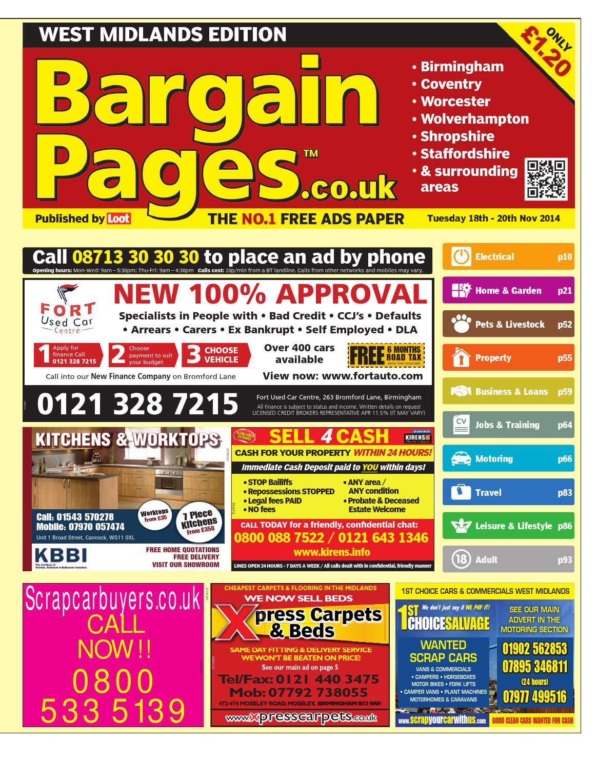 Bargain Pages West Midlands 18th November 2014 By Loot Issuu Anyone Have A Wiring Diagram Of Original Ani Theft Alarm For 3994 Vr6