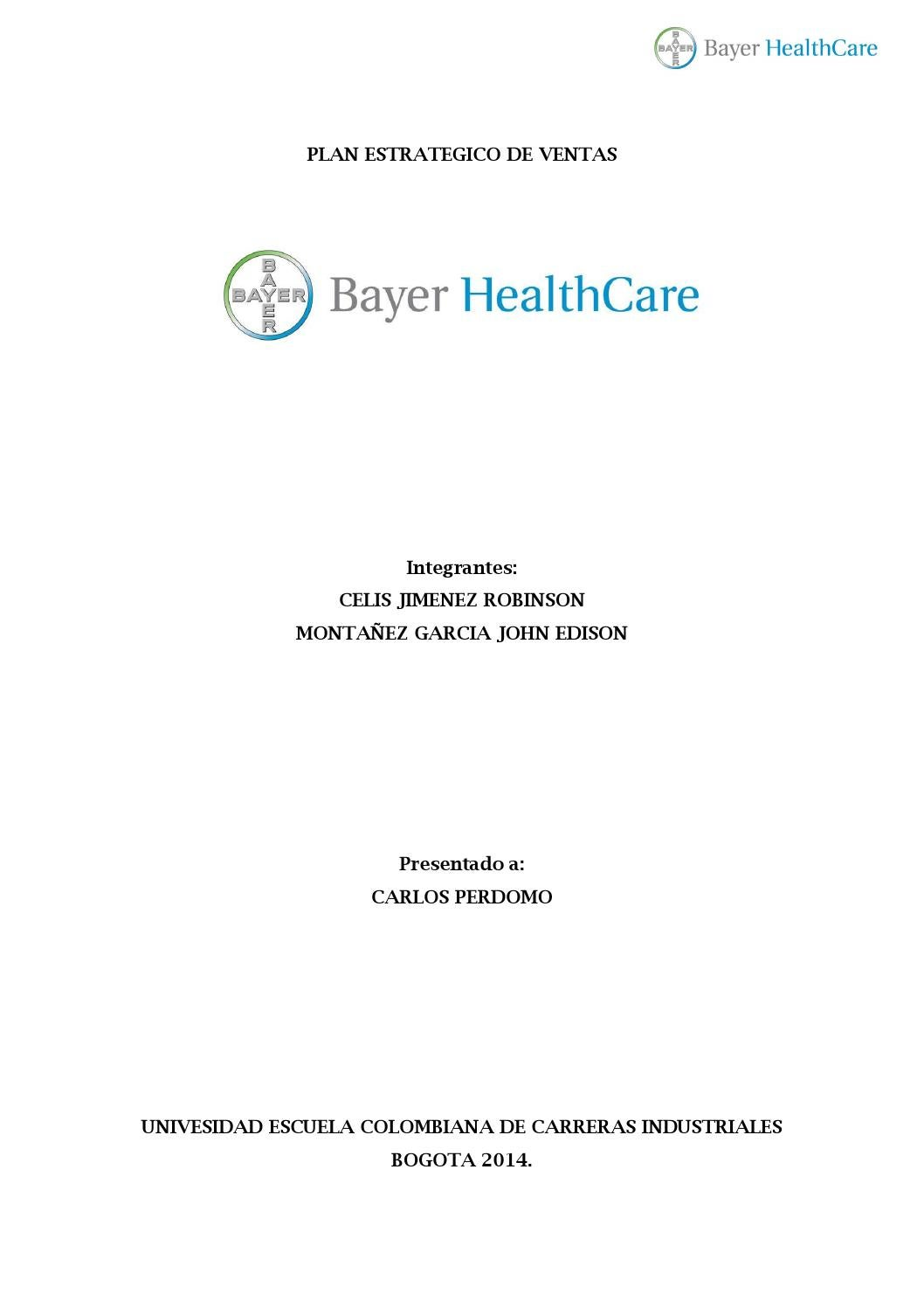 Plan estrategico de ventas bayer by John Mon - issuu