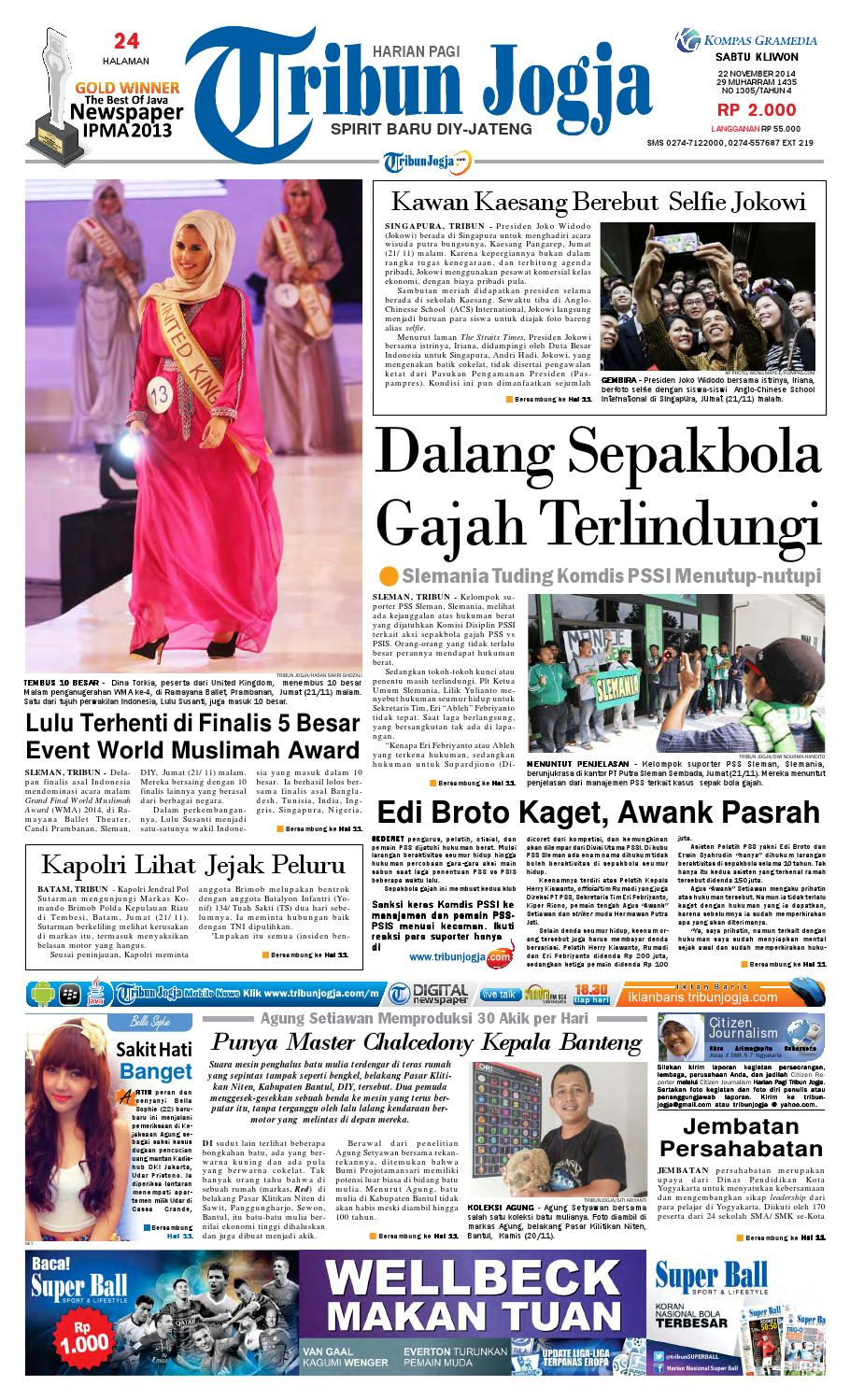 Tribunjogja 22 11 2014 By Tribun Jogja Issuu Produk Ukm Bumn Bale Sehat Teh Rosella Merah 3 Box