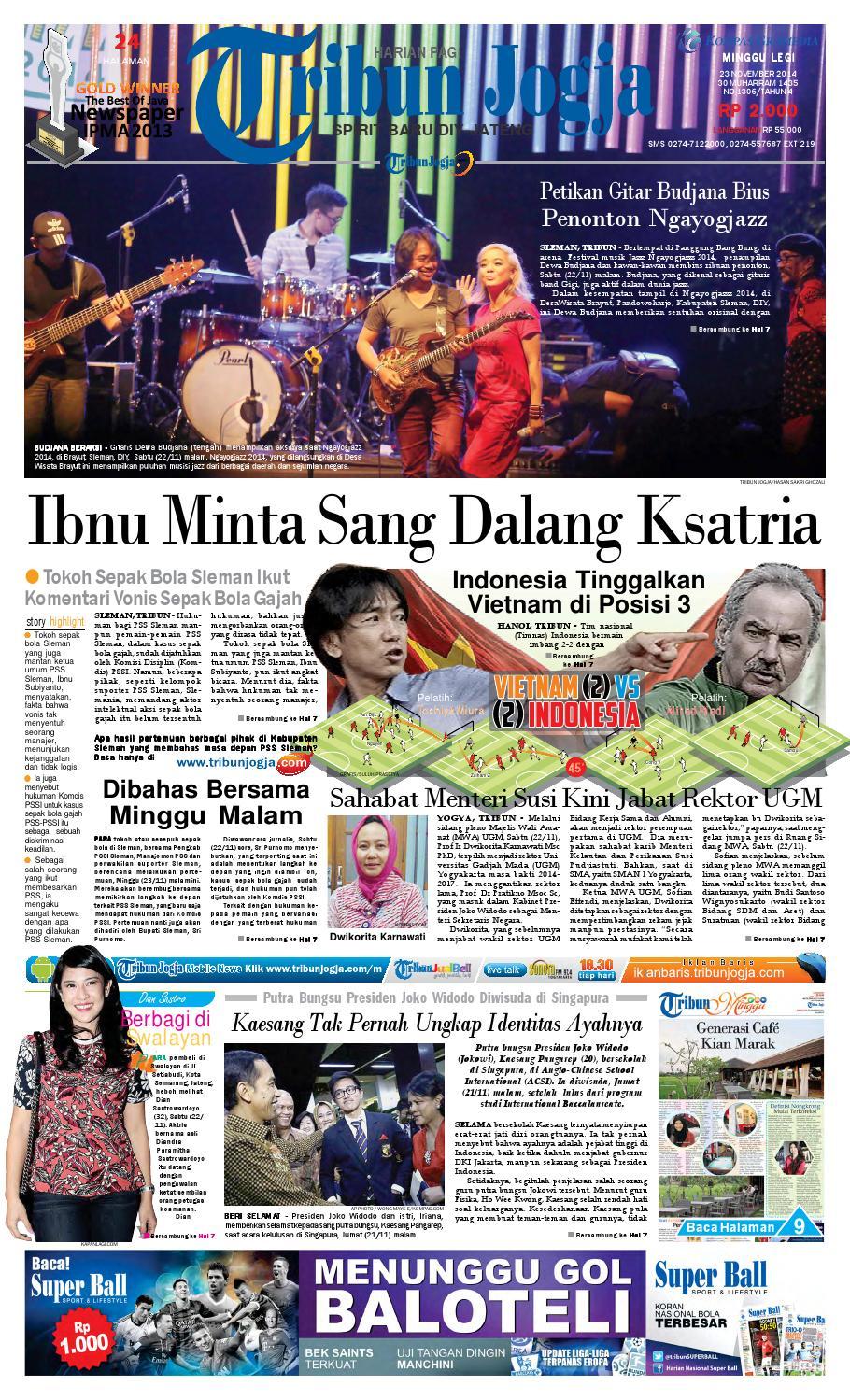 Tribunjogja 23 11 2014 By Tribun Jogja Issuu Produk Ukm Bumn Pusaka Coffee 15 Pcs Kopi Herbal Nusantara Free Ongkir Depok Ampamp Jakarta