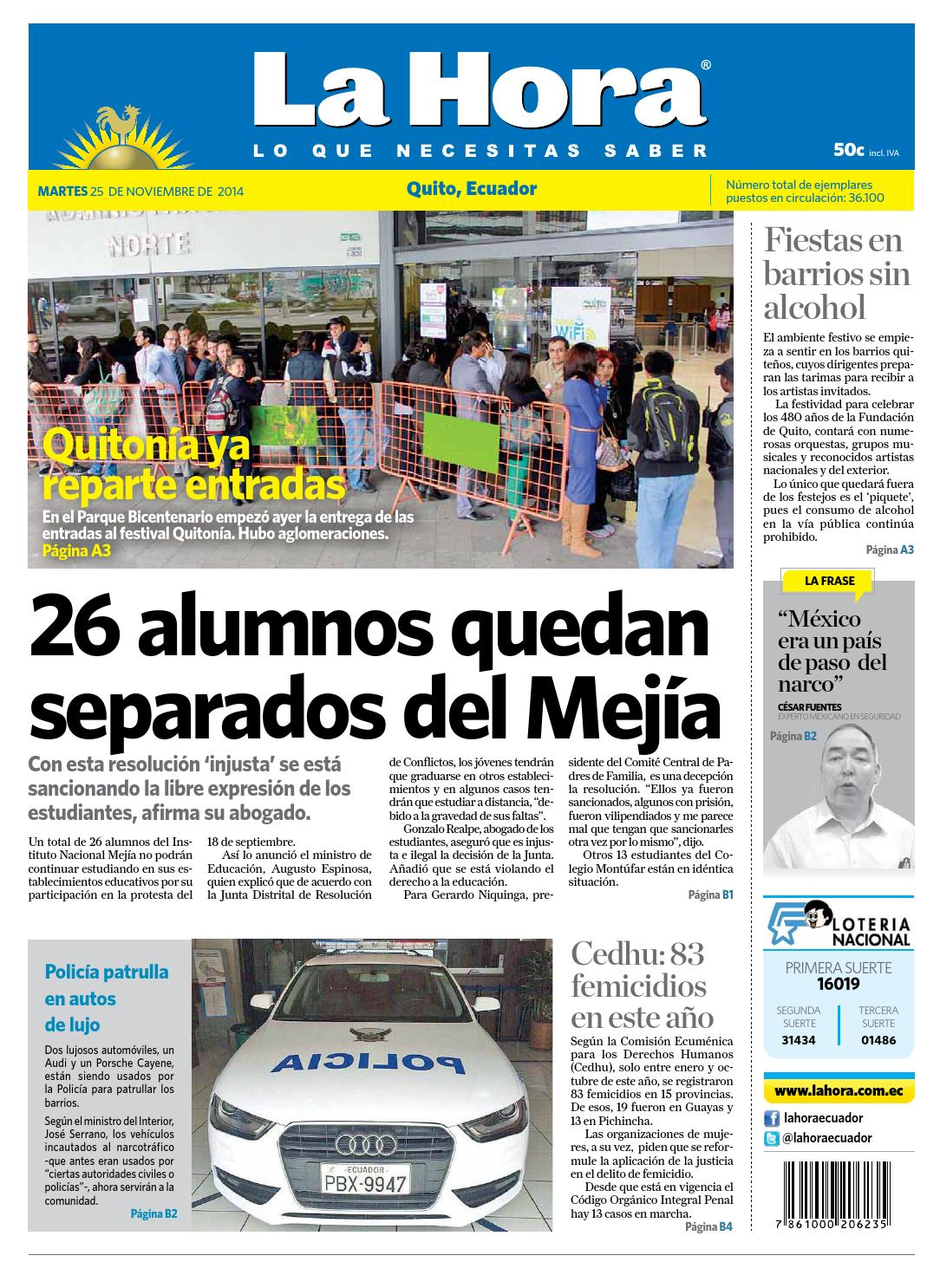 Quito 25 de noviembre 2014 by Diario La Hora Ecuador - issuu