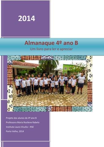 f5136e81aa4c6 2014 Almanaque 4º ano B Um livro para ler e apreciar