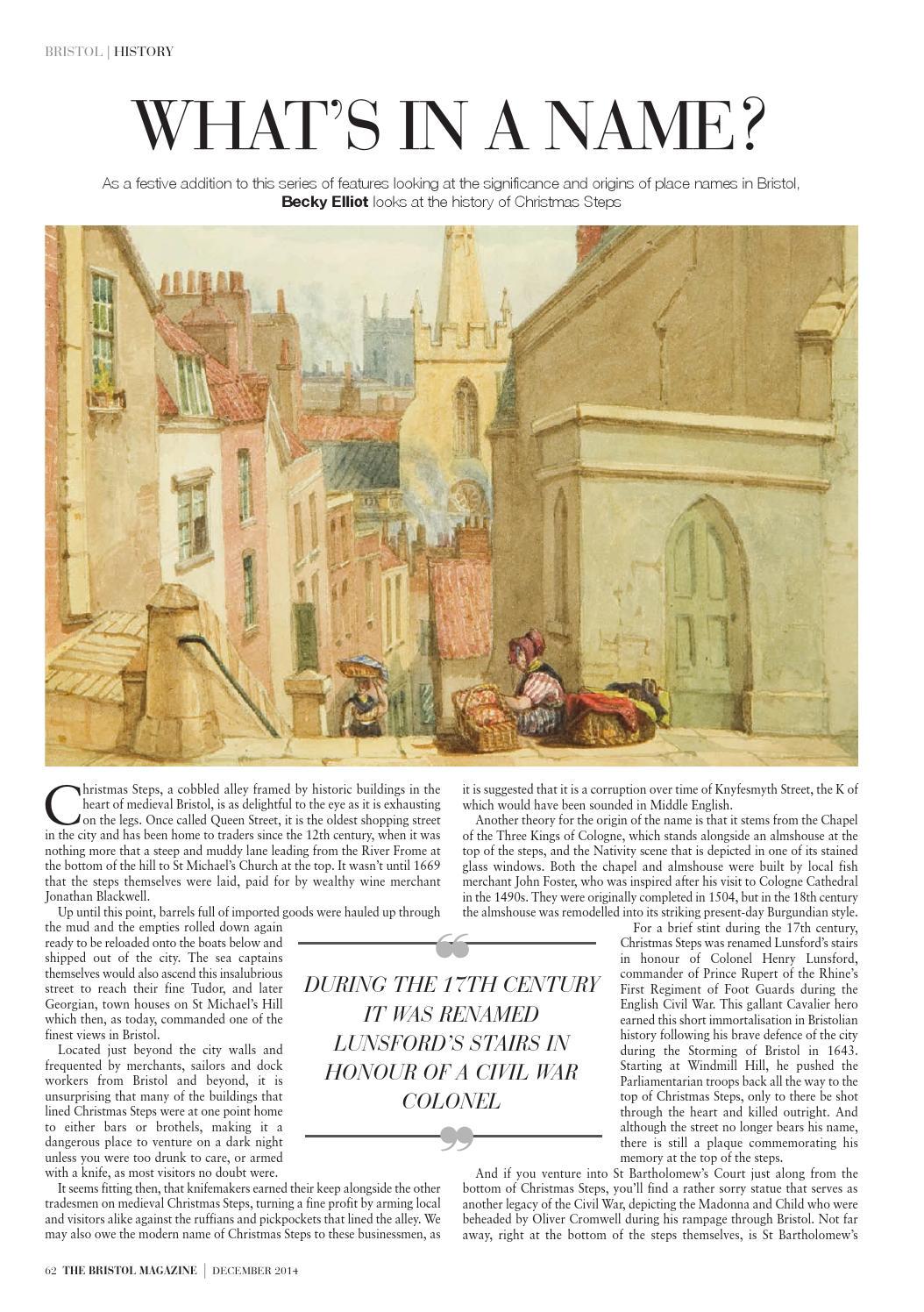 The Bristol Magazine December 2014 By Mc Publishing Limited Issuu