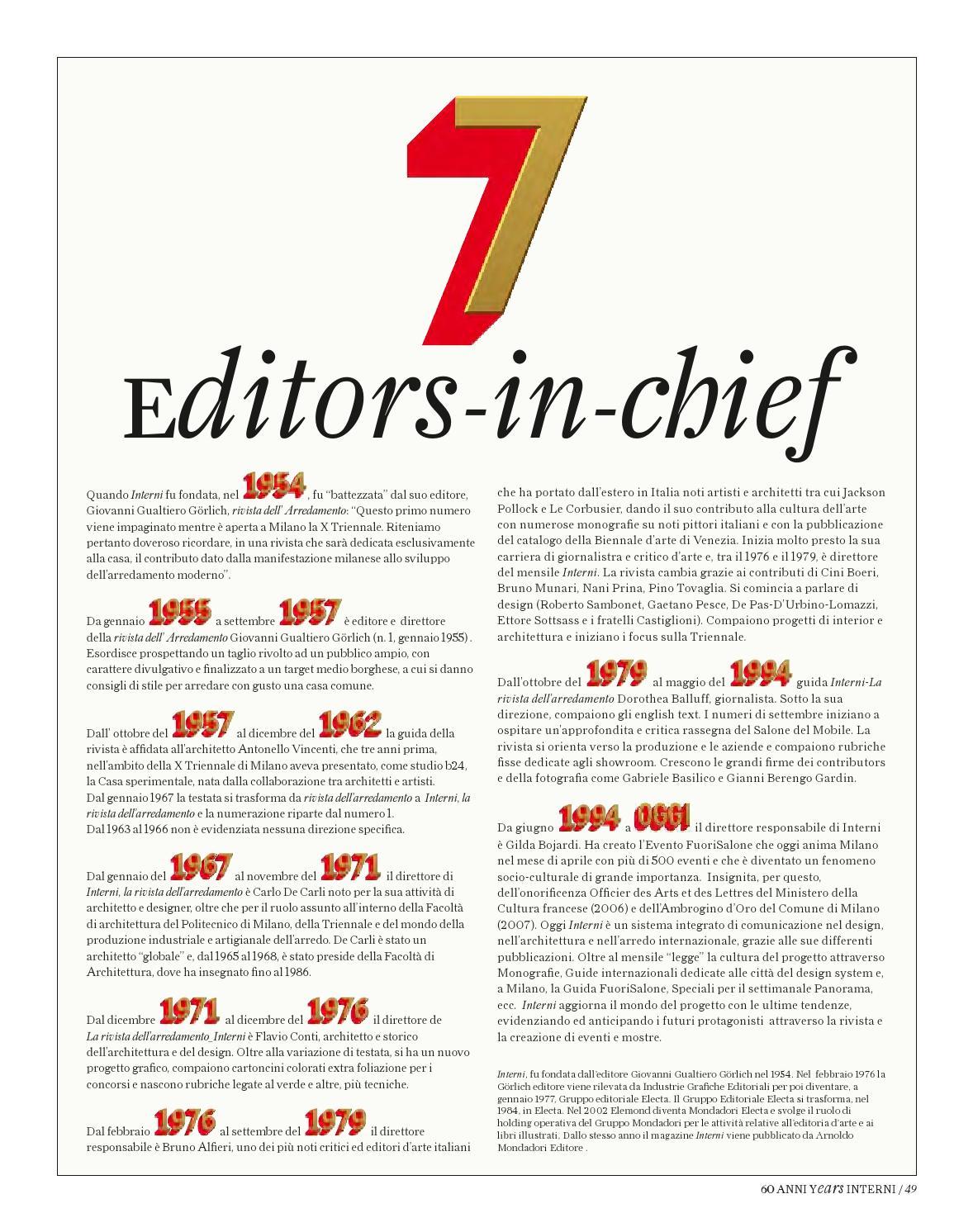 Riviste Di Design D Interni.Interni Speciale 60anni By Interni Magazine Issuu