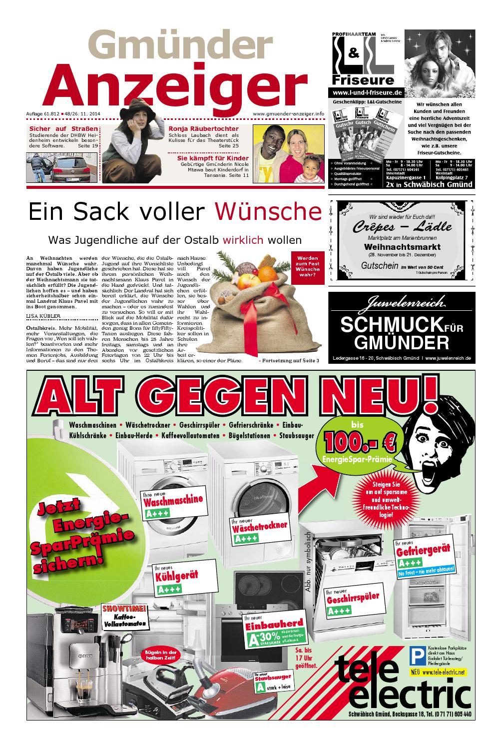 Der Gmünder Anzeiger - KW 48 by Wolfram Daur - issuu