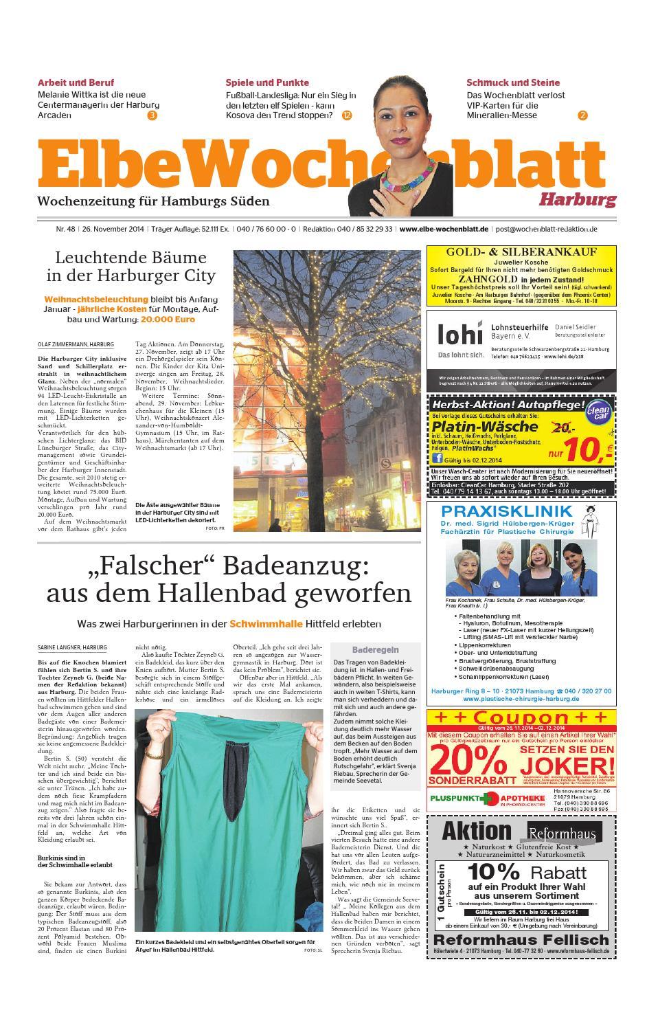 Harburg KW48-2014 by Elbe Wochenblatt Verlagsgesellschaft mbH & Co.KG -  issuu