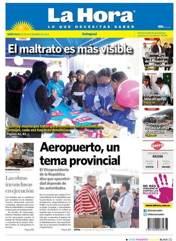 Cotopaxi 26 de noviembre 2014 by Diario La Hora Ecuador - issuu