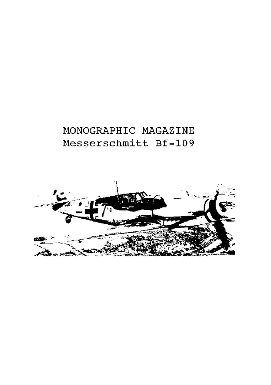Monographic magazine messerschmitt bf 109 2012 by Joe Te - issuu