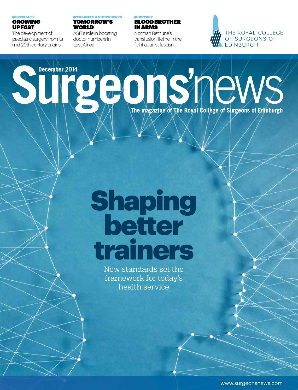 a10d7be2c2 Surgeons  News December 2014 by Think Publishing - issuu