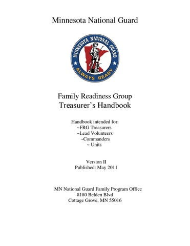 MN Treasurers Handbook by 1/34 ABCT Family Readiness - issuu