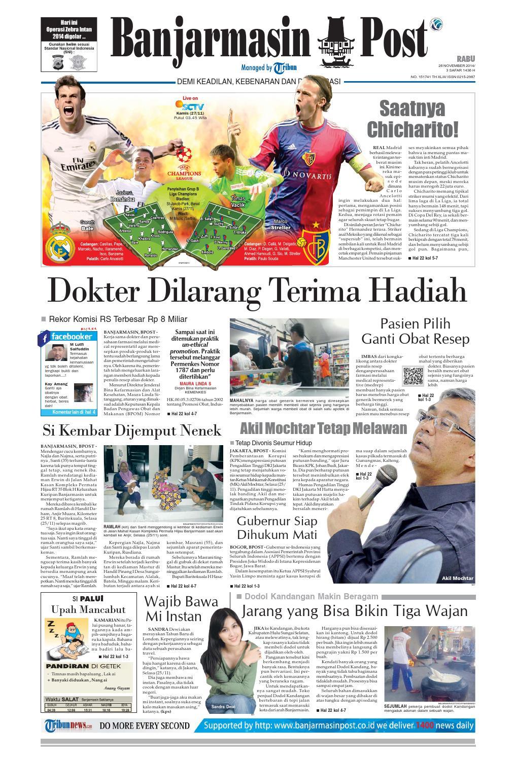 Banjarmasin Post Rabu 26 November 2014 By Issuu Produk Ukm Bumn Tenun Pagatan Atasan Wanita 4