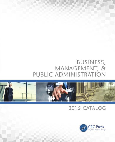 Business, Management, & Public Administration by CRC Press