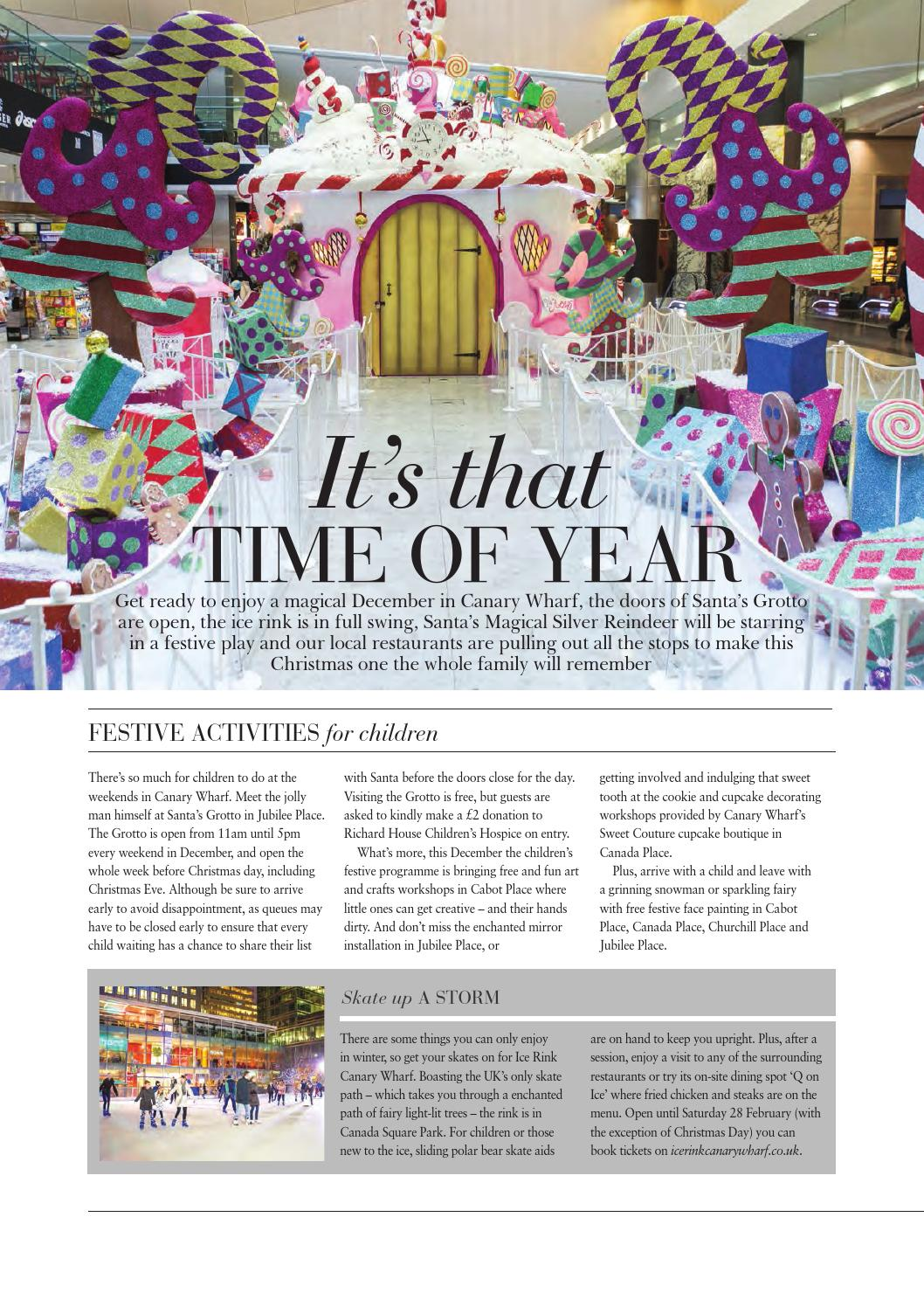 Canary Wharf Magazine December 14 by Runwild Media Group - issuu