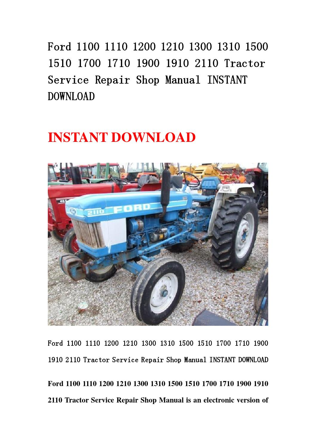 Ford 1100 1110 1200 1210 1300 1310 1500 1510 1700 1710
